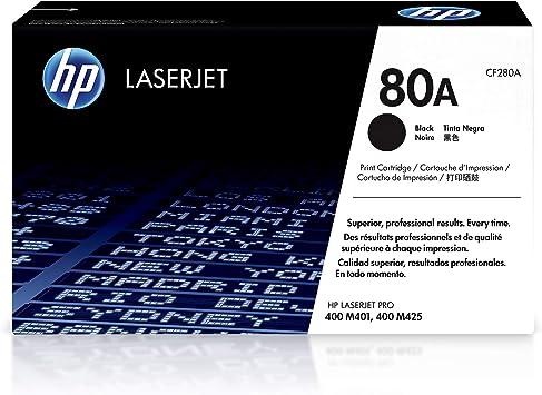 10 PK CF280A 80A Black Laser Toner Cartridge for HP LaserJet Pro 400 M401dn