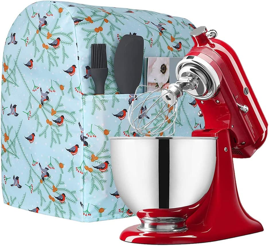 Dust Cover for 6-8 Quart Kitchen Aide Stand Mixer, Kitchen Aid Mixer Cover with Pockets Fits All Tilt Head & Bowl Lift Models, Kitchen Aid Mixers and Extra Accessories