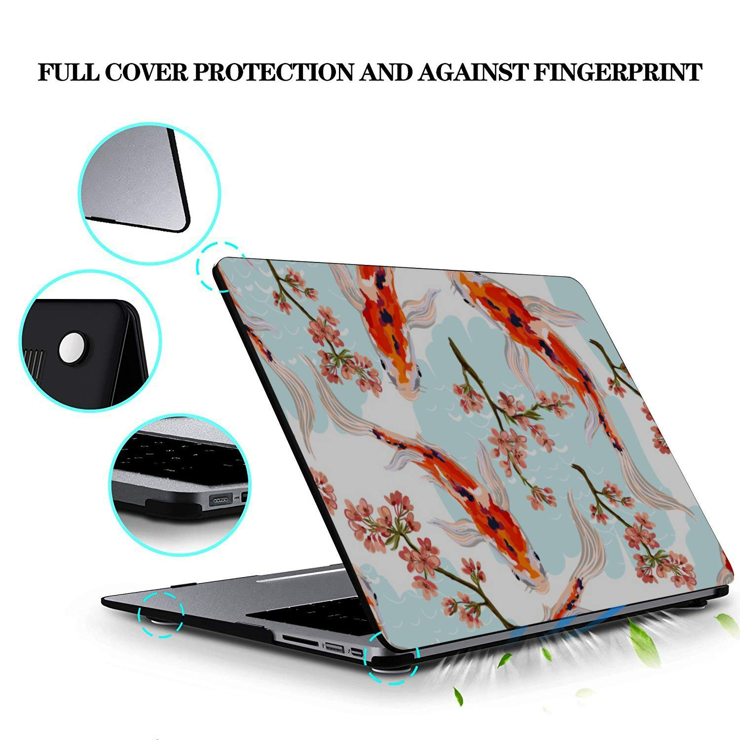 MacBook Air Laptop Case Sea Creatures Ornamental Fish Squid Plastic Hard Shell Compatible Mac Air 11 Pro 13 15 Laptop Cover Protection for MacBook 2016-2019 Version