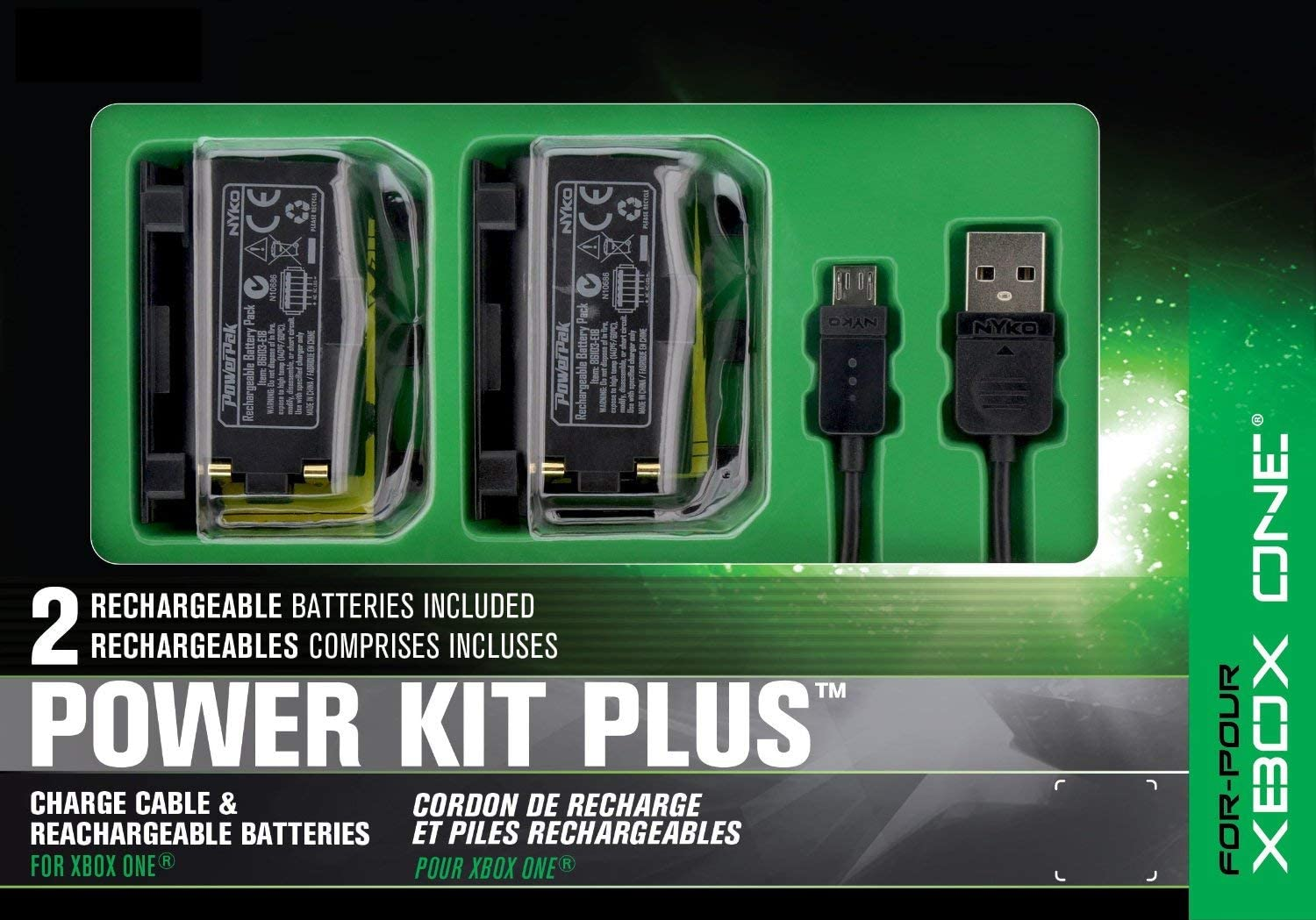 Amazon com: Nyko Power Kit Plus - 2 Pack Rechargeable