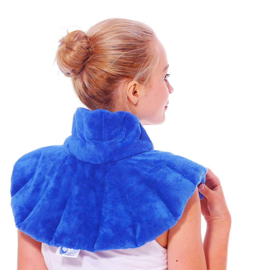 Huggaroo Microwavable Neck Wrap - Moist Heating Pad and Cold Compress - Use Hot or Cold for Neck Pain Relief, Muscle Relaxation, Migraine Relief by Huggaroo