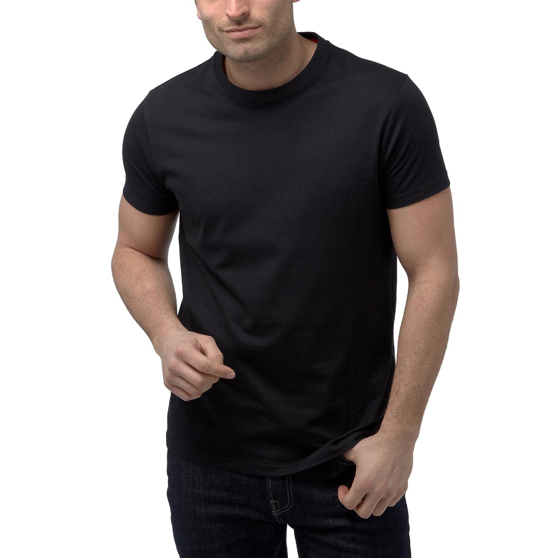 Black t shirt plain - 4 Pack Charles Wilson Plain Crew Neck T Shirt Amazon Co Uk Clothing