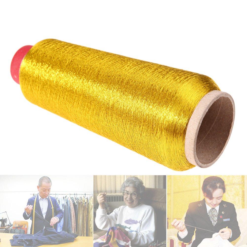 Broadroot Computer Kreuzstich Stickgarn N/ähgarn Textil Metallic Garn gewebt Stick Garn Gold