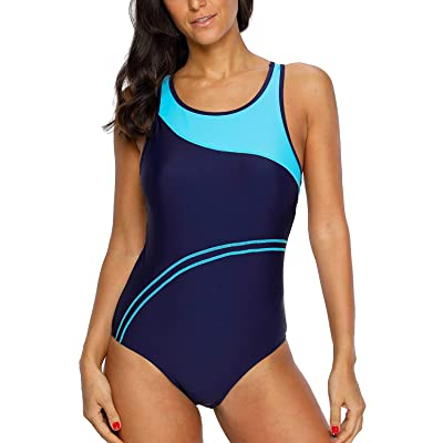 Amazon.com : CharmLeaks Women's Competitive Athletic One Piece Swimsuit Racerback Training Swimwear Bathing Suits : Clothing