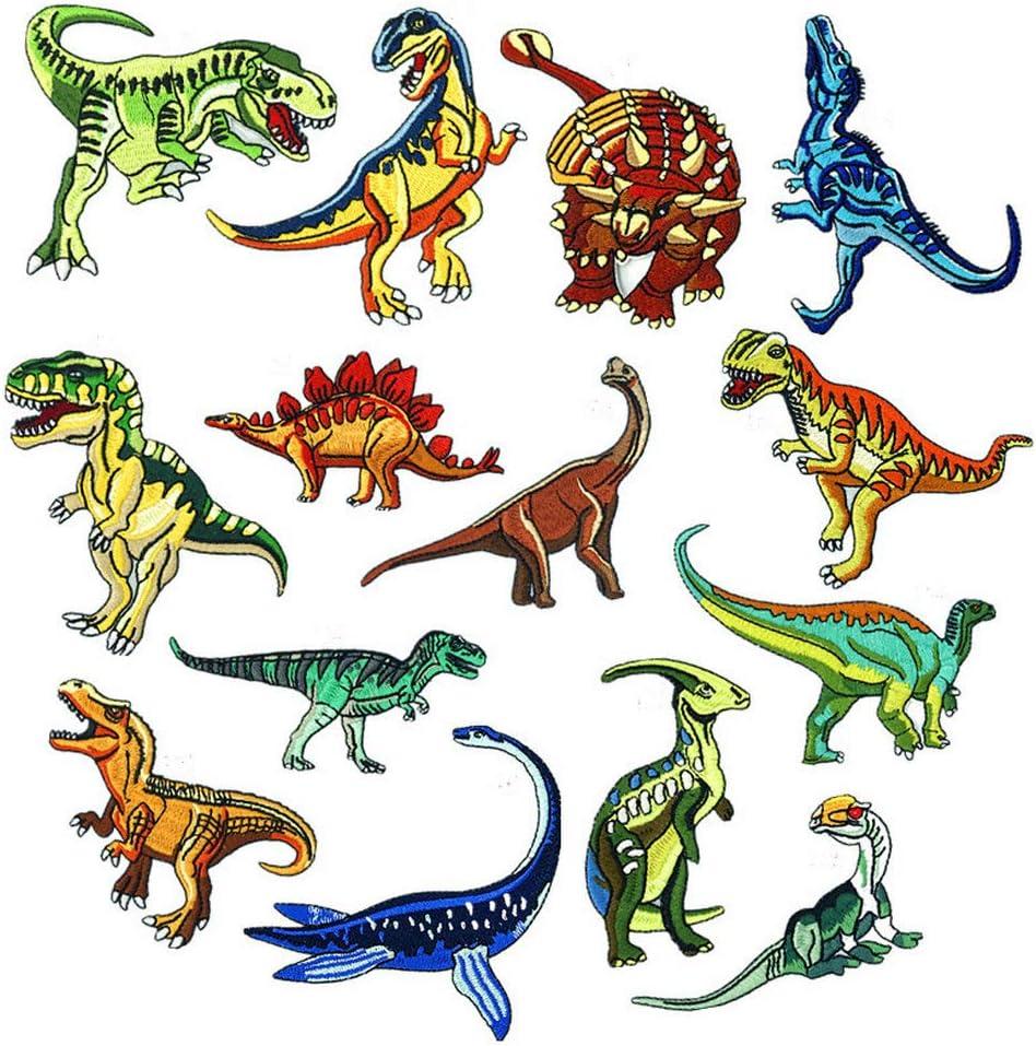 Dinosaur Iron On Patch Movie Jurassic Quote Retro Embroidered Applique Badge