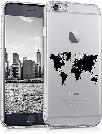 Kwmobile Hülle Kompatibel Mit Apple Iphone 6 6s Handyhülle Handy Case Travel Umriss Schwarz Transparent Elektronik