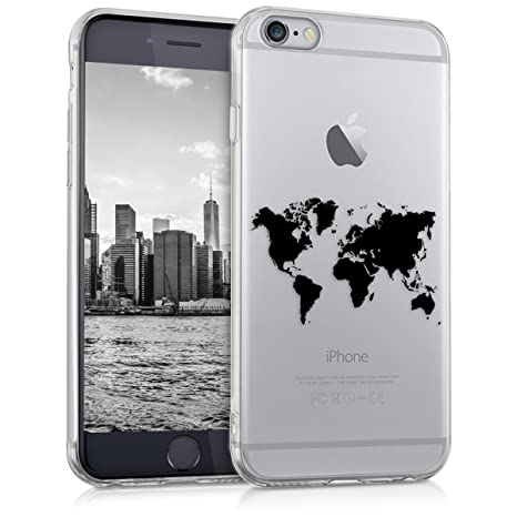 negozio online 05bfe 5c5c4 kwmobile TPU Silicone Case for Apple iPhone 6 / 6S - Crystal Clear  Smartphone Back Case Protective Cover - Black/Transparent