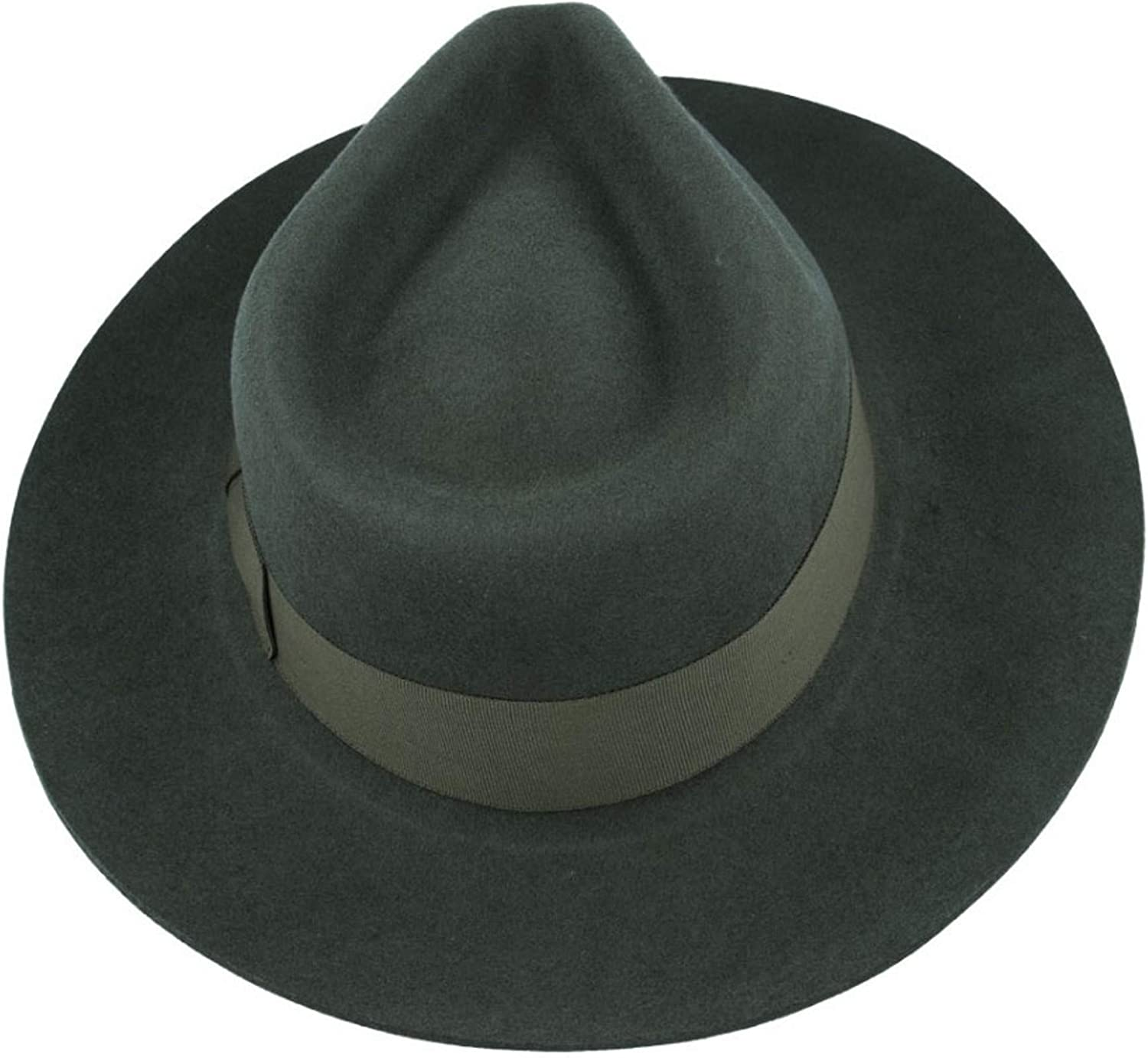Gladwinbond Quality Hand Made Stiff /& Snap Brim Fedora Trilby Hat with Matching Band 100/% Wool