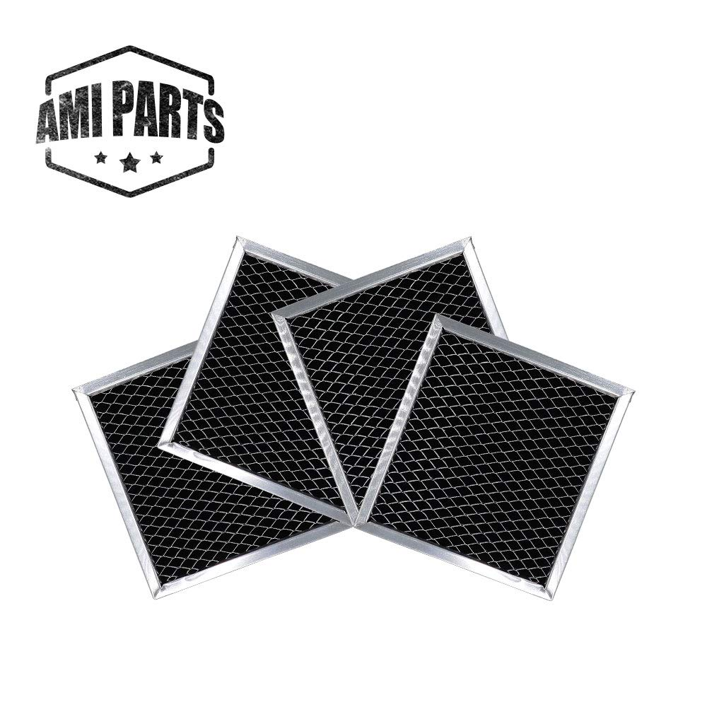 AMI PARTS 8206230A Charcoal Filter Replacement Part Carbon Filters Compatible with Whirlpool Maytag Microwave(4pcs)