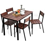 LOWYA (ロウヤ) テーブル チェア ダイニングテーブル ダイニングセット コンパクト 5点セット 幅110 4人掛け ウォルナット おしゃれ