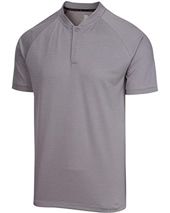 29f894c2 Three Sixty Six Collarless Golf Shirts for Men - Men's Casual Dry Fit Short  Sleeve Polo