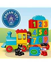 LEGO 10847 DUPLO My First Number Train Toy with Number Decorated Bricks, Early Education 1 Year Olds Baby Toy
