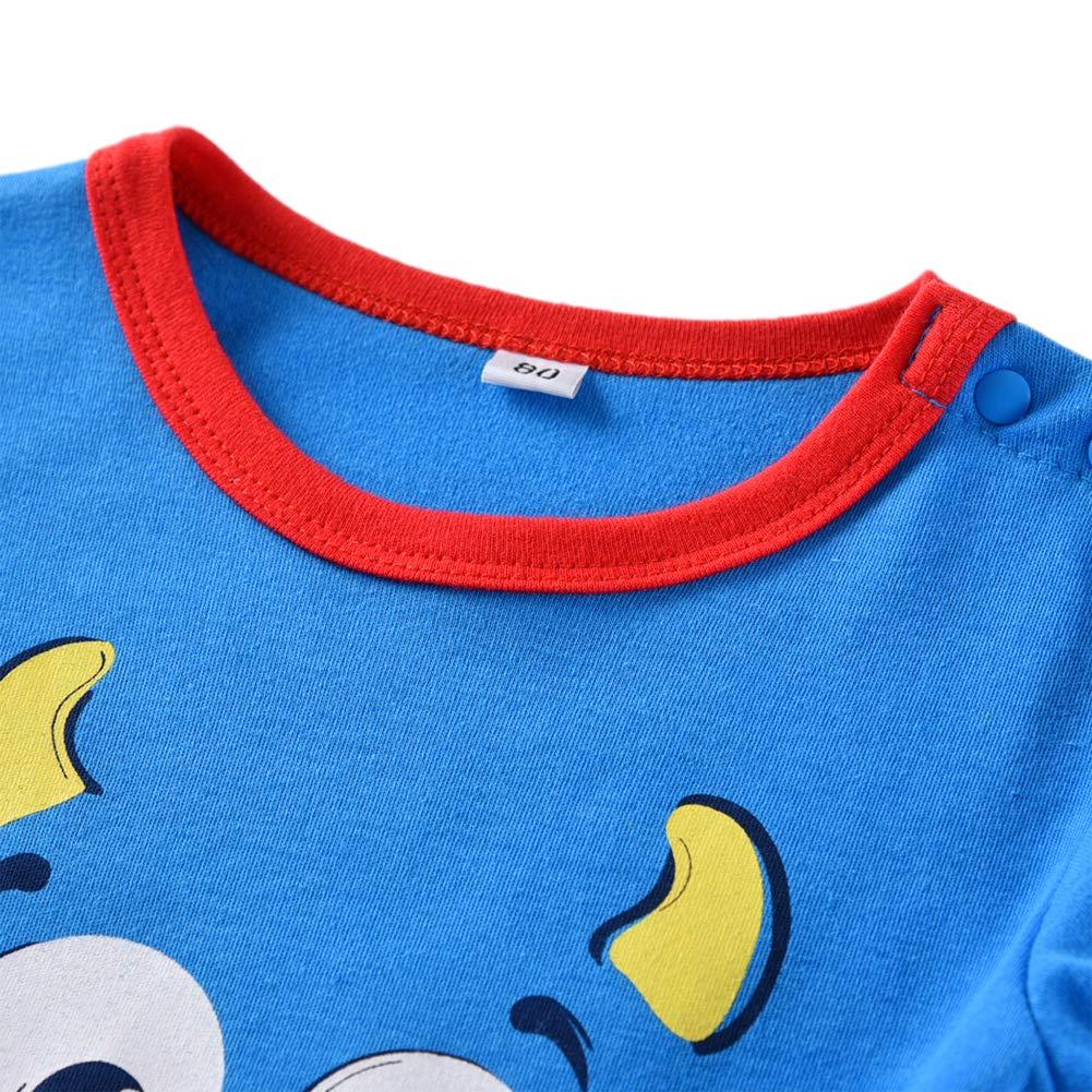 Tortor 1Bacha Baby Boys Cute Cartoon Long Sleeve Romper Coverall Clothes
