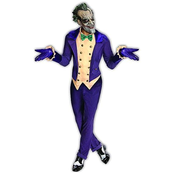 3bf9125dc042 Rubie's Costume Rubie's Costume Co Batman Arkham City Adult Joker Costume:  Amazon.co.uk: Clothing