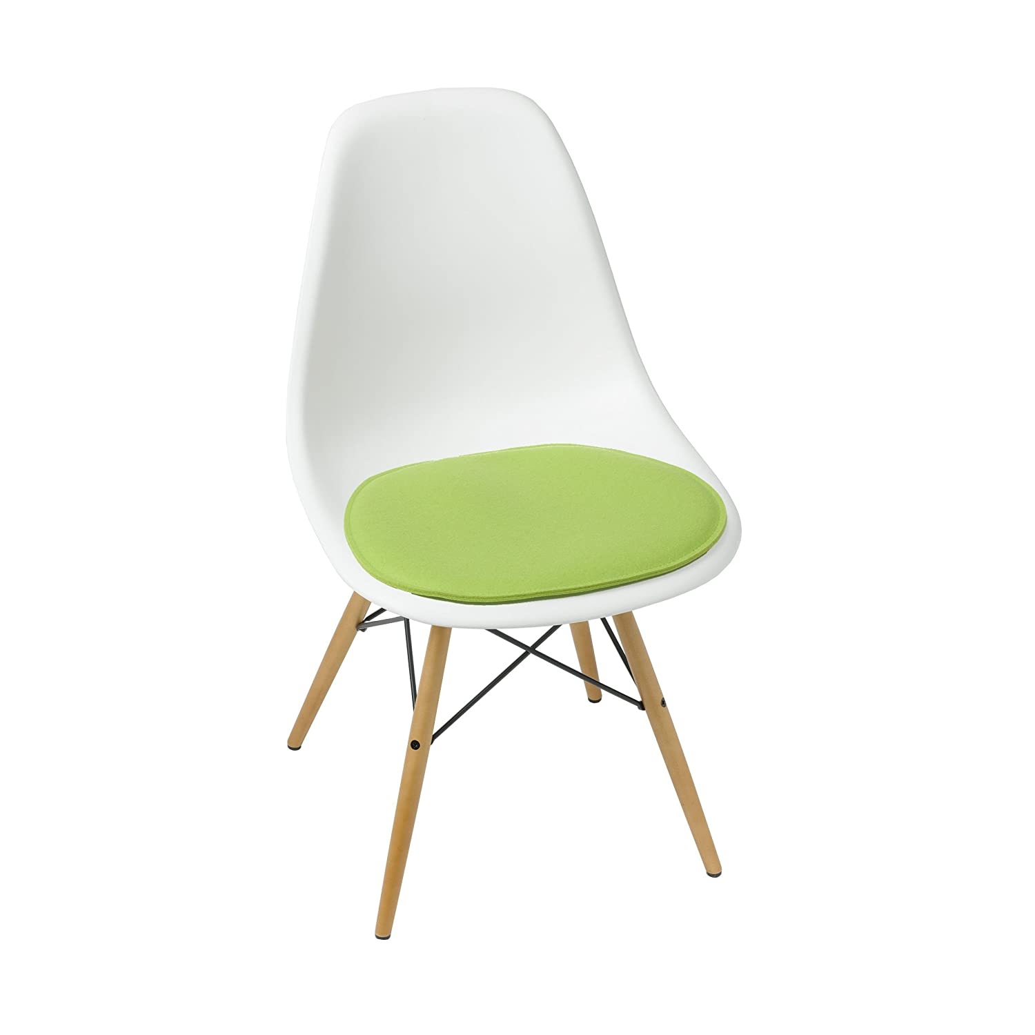 Cojín de asiento para Eames Side Chair 2 capas Kiwi: Amazon ...