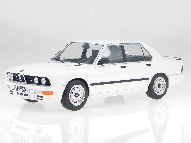 BMW e28 M535i 1986 weiss Modellauto 183260 Norev 1:18