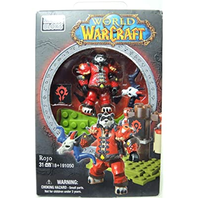 Mega Bloks World of Warcraft Horde Faction Pack Rojo: Toys & Games