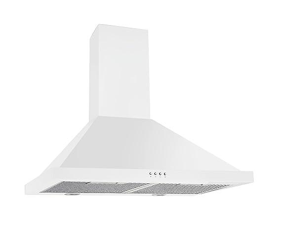amazon com ancona white pyramid 450 cfm wall mount range hood 30