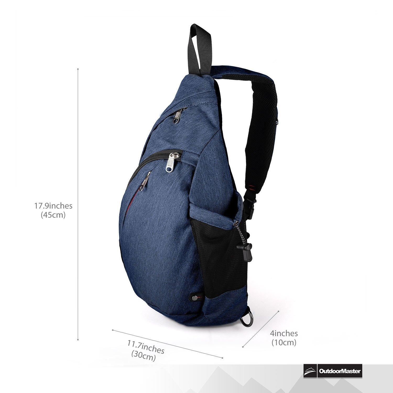OutdoorMaster Sling Bag - Crossbody Backpack for Women   Men ... 23408da960796