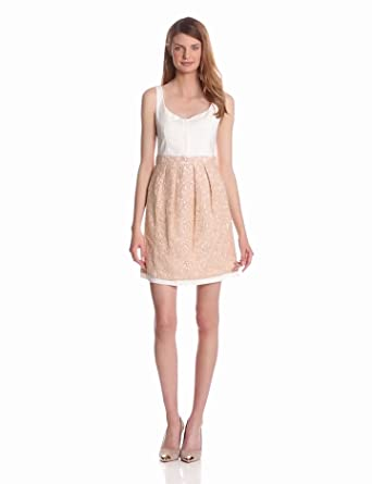 McGinn Women's Penelope Lace Dress, Pearl, X-Small