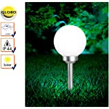 Globo IP44LED weiß Kunststoff Solar Lampe