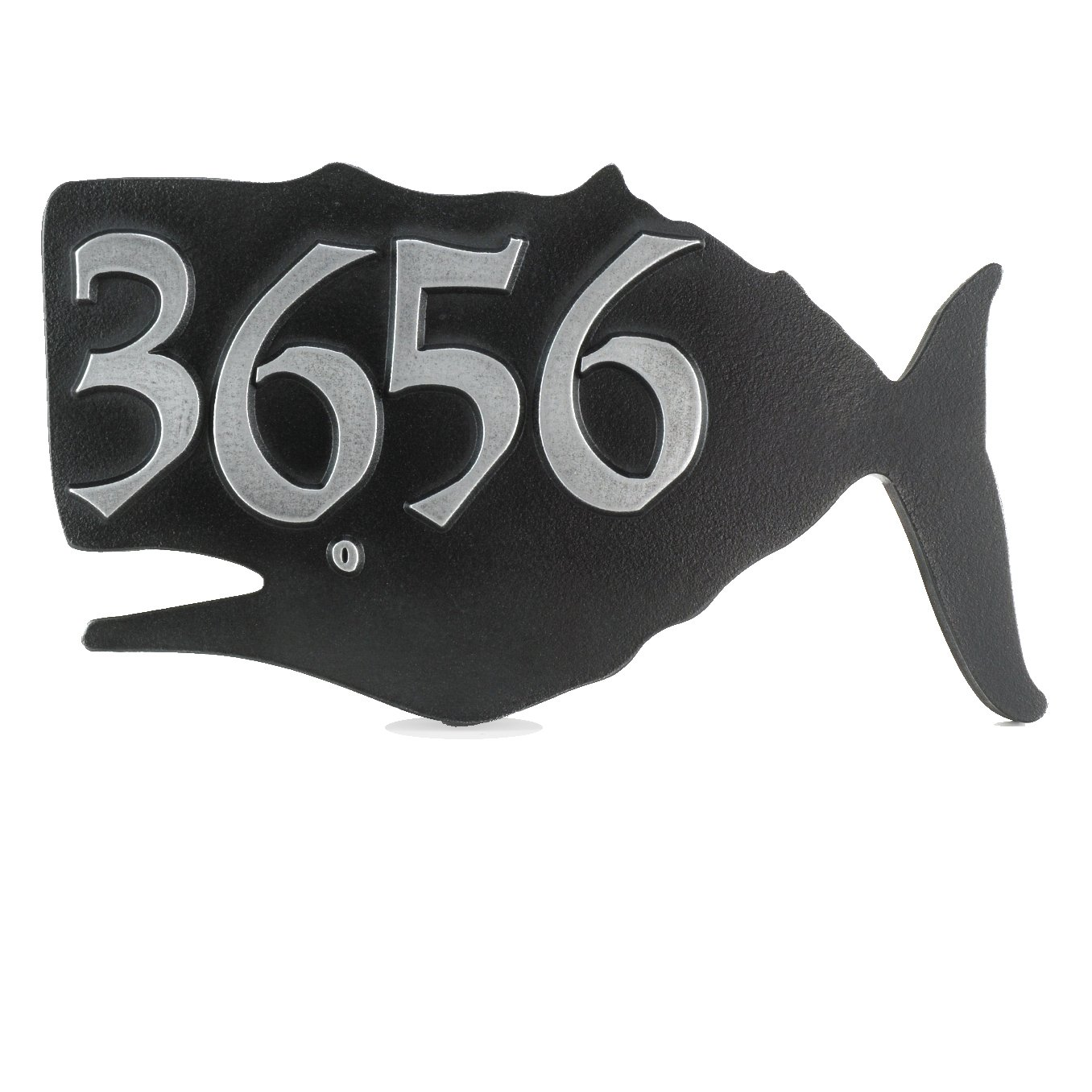 Whale Home Address Plaque 14x8 - Raised Pewter Metal Coated