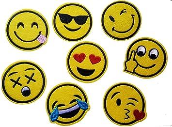 Emoji Parches Bordado Hierro en apliques Badge Pegatinas de para ropa