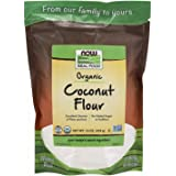 NOW Foods, Organic Coconut Flour, Unsweetened, Excelent Source of Fiber, No Added Sulfites, Certified Non-GMO, 16-Ounce