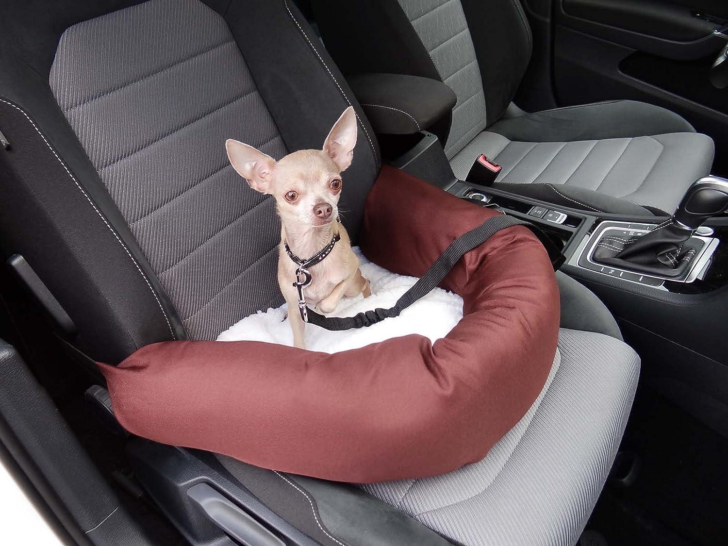 Knuffliger Autositz Für Hund Katze Oder Haustier Inkl Flexgurt Empfohlen Für Mercedes Benz C Klasse Haustier