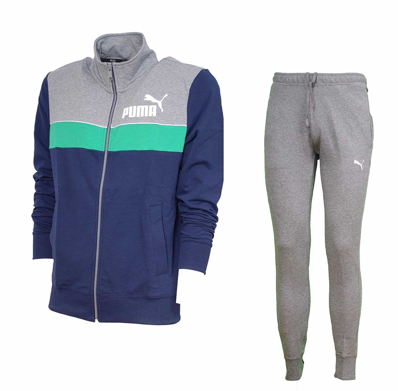 Fitnessstudio Sport Rot Blau Baumwolle Herren Trainingsanzug