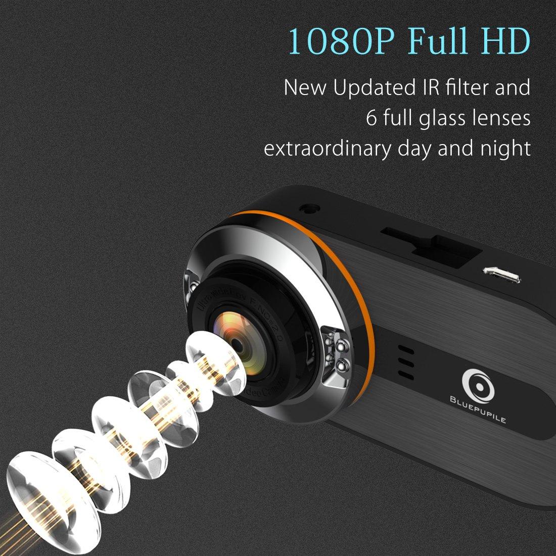 1080P DVR con Sensor G Modo de Aparcamiento C/ámara para salpicadero de Coche Full HD /ángulo Amplio de 170 Grados visi/ón Nocturna grabadora de v/ídeo para conducci/ón de Coche grabaci/ón en Bucle