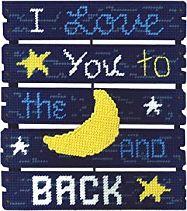 Janlynn Love You To The Moon Pallet-ables Plastic Canvas Kit