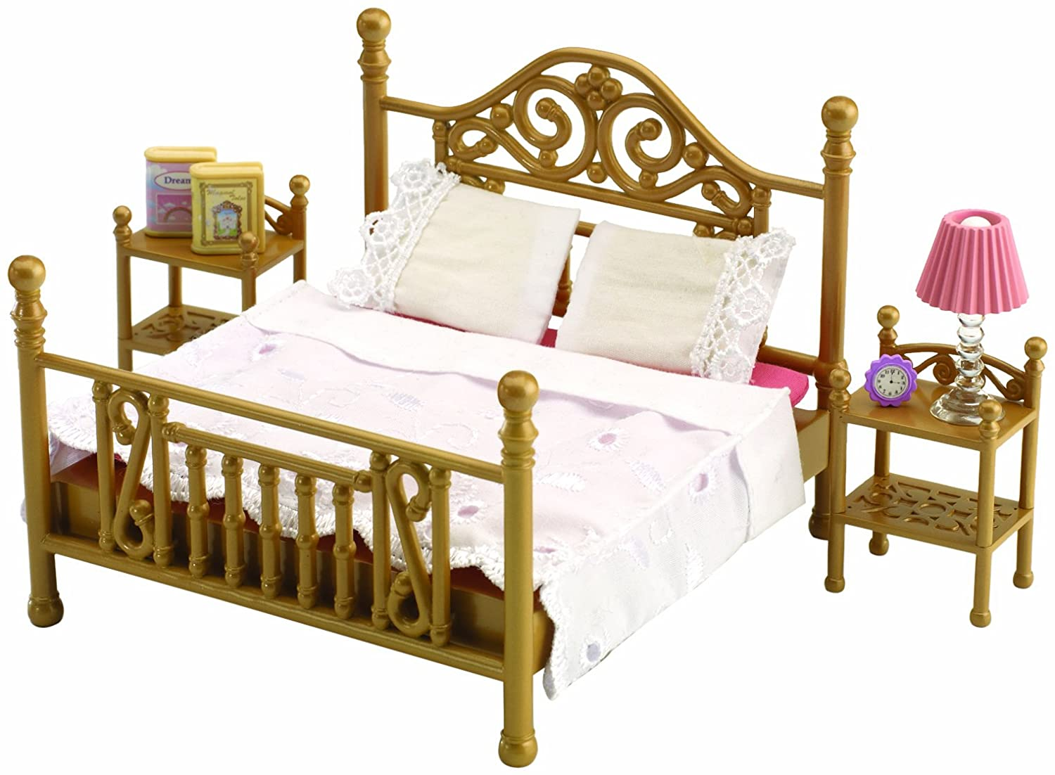 Sylvanian Families Bedroom Furniture Set Sylvanian Families Luxury Brass Bed Amazoncouk Toys Games
