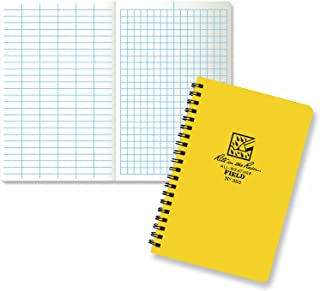 "product image for Rite in the Rain All-Weather Side-Spiral Notebook, 4 5/8"" x 7"", Yellow Cover, Field Pattern(No. 353N)"