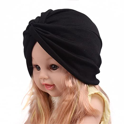 4bc070ce2f4 Image Unavailable. Image not available for. Color  Qhome Fashion Soft  Cotton Kids Turban Chemo Hat Hair Covering Hijab Girls Beanie ...