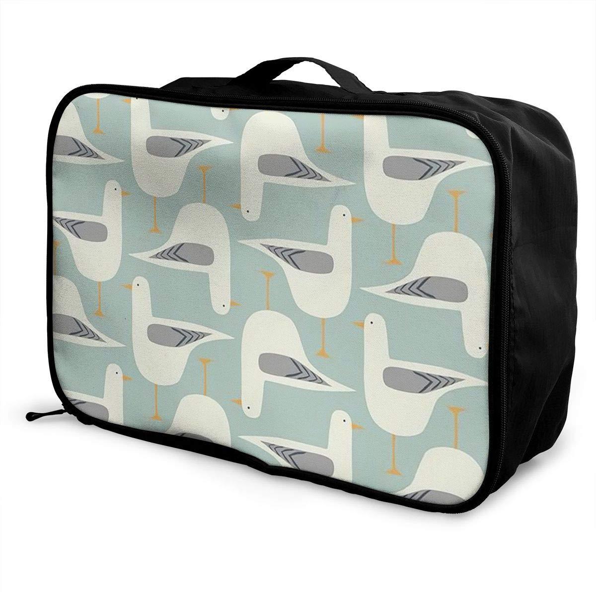 Travel Luggage Duffle Bag Lightweight Portable Handbag Bird Pattern Large Capacity Waterproof Foldable Storage Tote