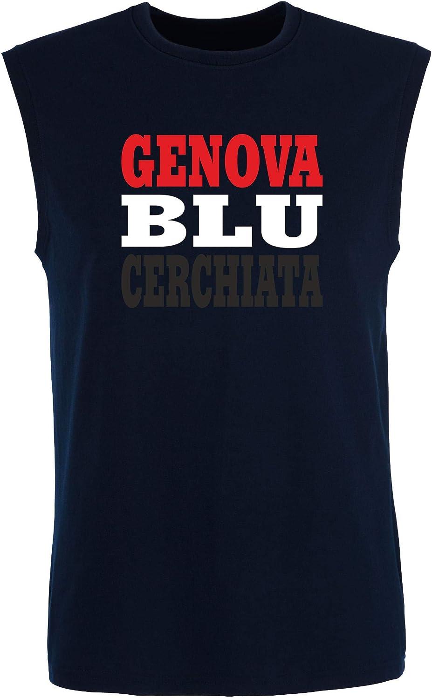 T-Shirtshock_ Singlete para los Hombre Azul Navy WC1005 Sampdoria ...
