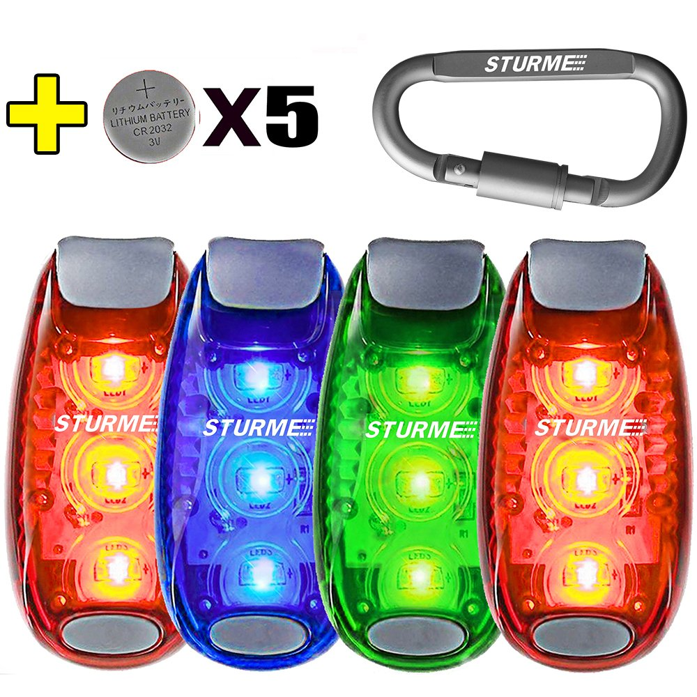 Perfect Fitness Walk Run Safety Lights 2 Light Combo LED Clip-on /& Armband NEW