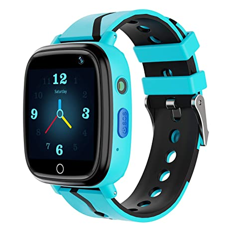 Kids Smart Watch GPS Tracker - Waterproof GPS Tracker Watch for Children Girls Boys with SOS Call Camera Touch Screen Game Alarm for Kids Boys and ...