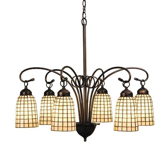 Amazon.com: 27.5 inch W Beige geométrica 6 Lt – Lámpara de ...