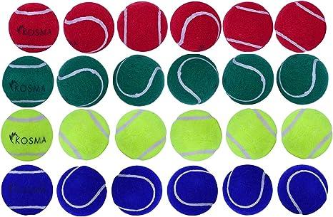 Kosma Juego de 24 pelotas de tenis Pelotas para mascotas | Pelota ...