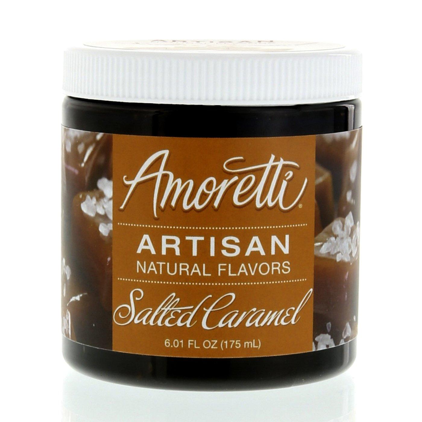 Amoretti Natural Artisan Flavor Salted Caramel, 6.01 Fluid Ounce