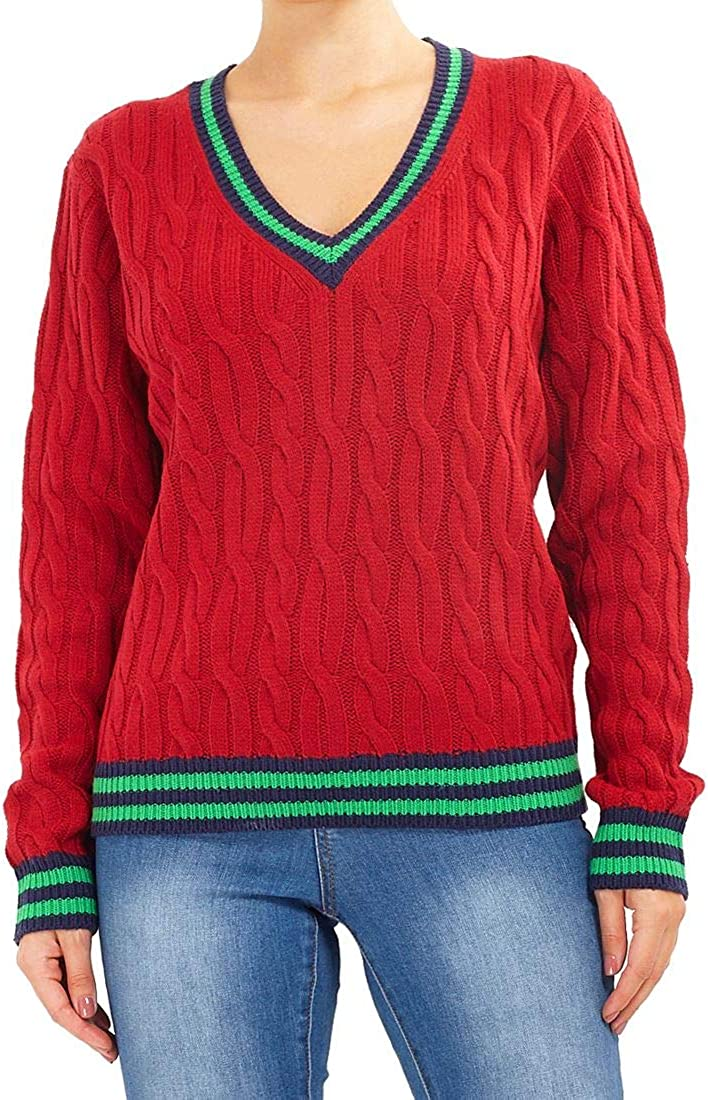 SS7 Womens Knitted Cable Jumper Cricket