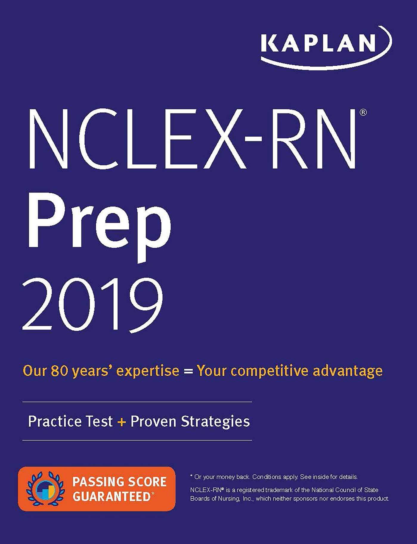 NCLEX RN Prep 2019  Practice Test + Proven Strategies  Kaplan Test Prep