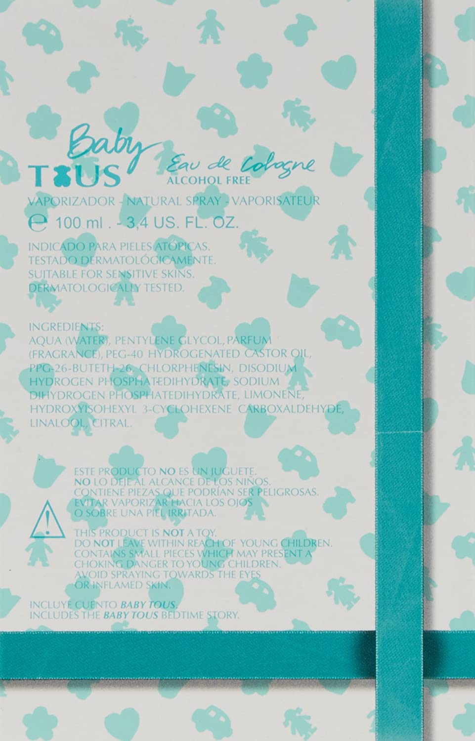 Amazon.com: Tous Baby Alcohol Free Cologne Spray for Kids, 3.4 Ounce: Beauty