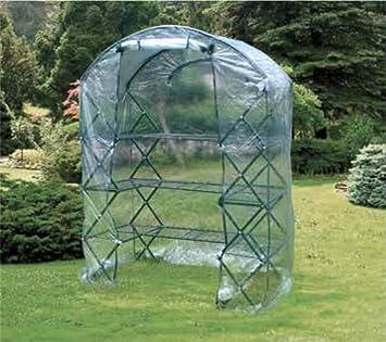 Verdelook - Invernadero de arco plegable con lona de PE para jardín y balcón, 142 x 71 x 203 cm: Amazon.es: Bricolaje y herramientas
