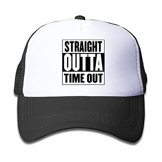 ef6cb180b79a0 Amazon.com  Straight Outta Timeout Baseball Hat Adjustable Back Mesh Cap  For Kid  Clothing