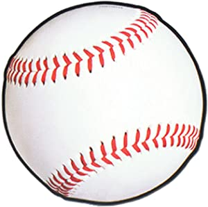 """Beistle Paper Baseball Cut Outs 24 Piece – Sports Theme Brithday Party Or Baby Shower – Bulletin Board Classroom Decor, 13.5"""", White/Red/Black"""
