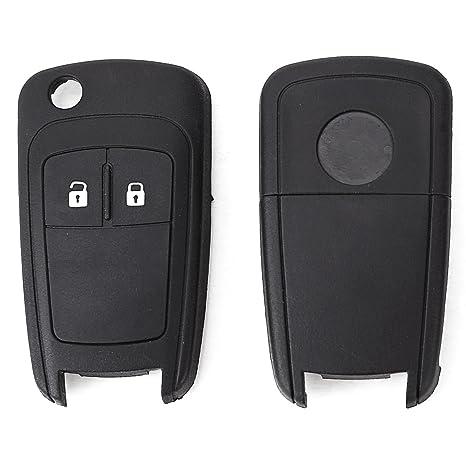 2x Carcasa de Mando 2 botones y Llave para Vauxhall Opel ...