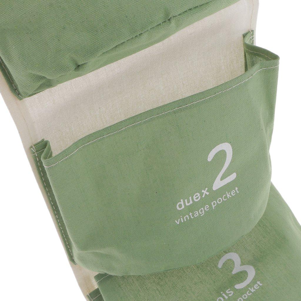 Lovoski ウォールポケット 壁掛け 収納袋 小物掛け 雑貨 整頓 収納ケース 多目的 全5色 - 緑の画像